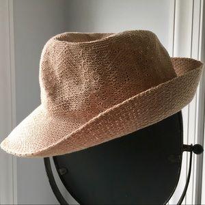 Straw Fedora Panama Jack Style Beach Hat